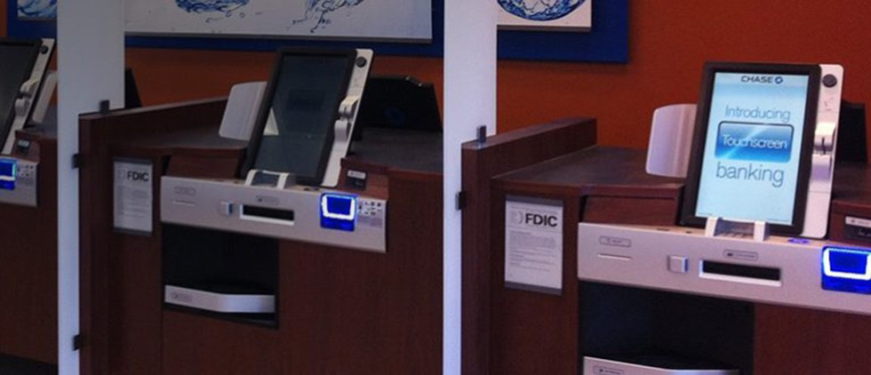 kiosk banking in market locations