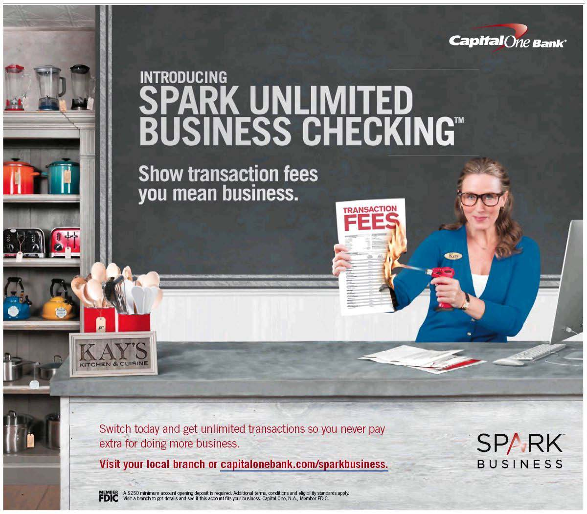 At a glance capital one spark ultimate checking media logic direct mail offer for spark branded business checking from capital one colourmoves