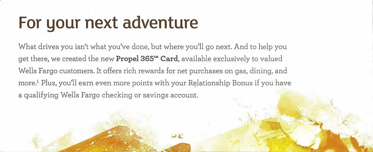 How does Propel 365\'s marketing pitch the new credit card?