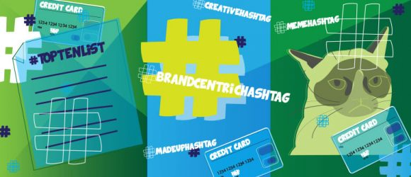How financial services companies use hashtags in social media marketing