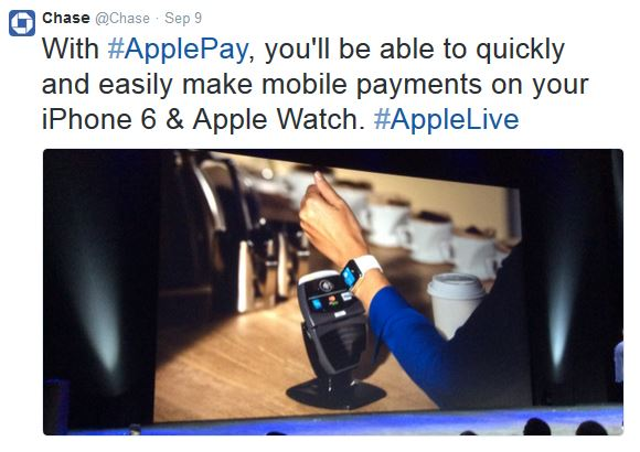 chase_apple pay tweet_09.09