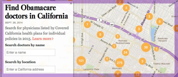LA Times creates tool to find doctor on healthcare exchange
