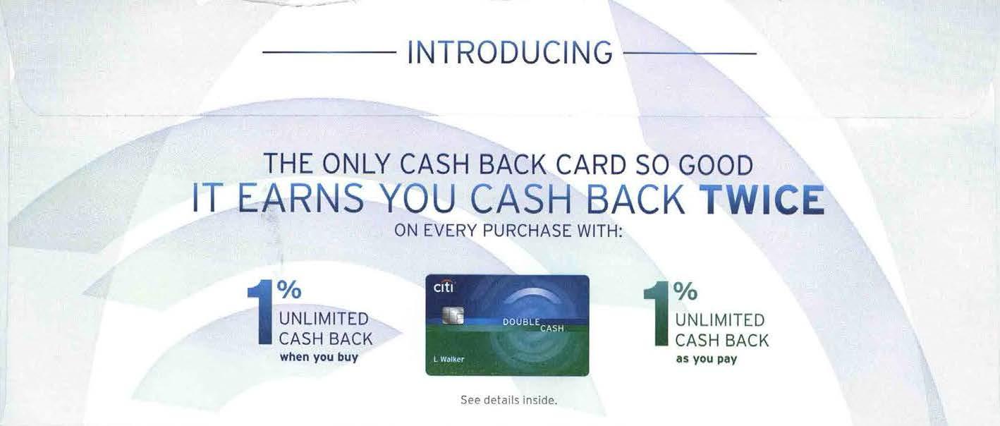 citi double cash back credit card DM 01