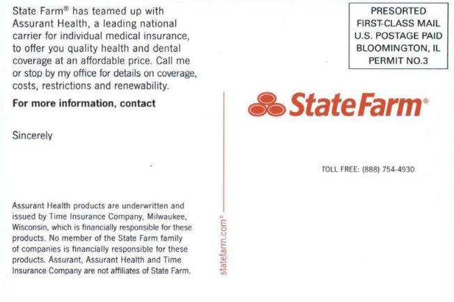 State Farm Insurance Card