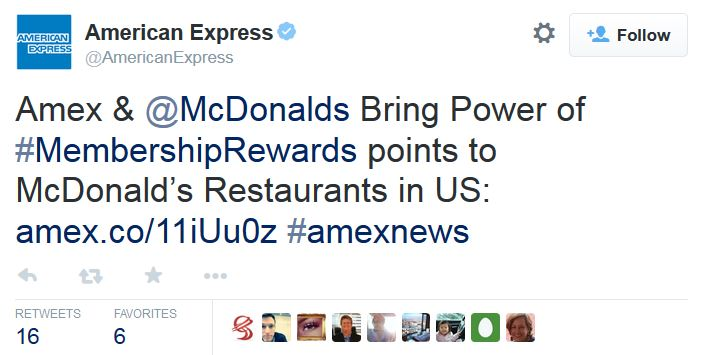 Amex partners with McDonald's to accept rewards points as payment for purchases