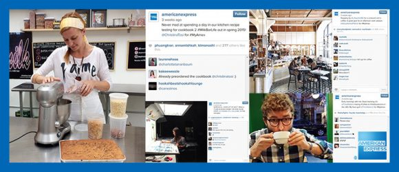 Customer takeover of American Express Instagram feed