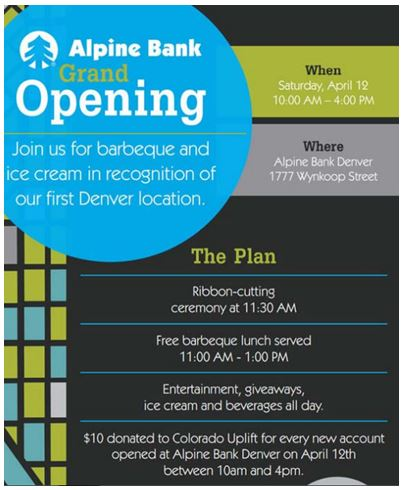 Alpine Bank branch opening
