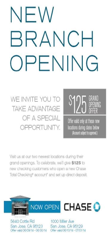 Chase branch opening