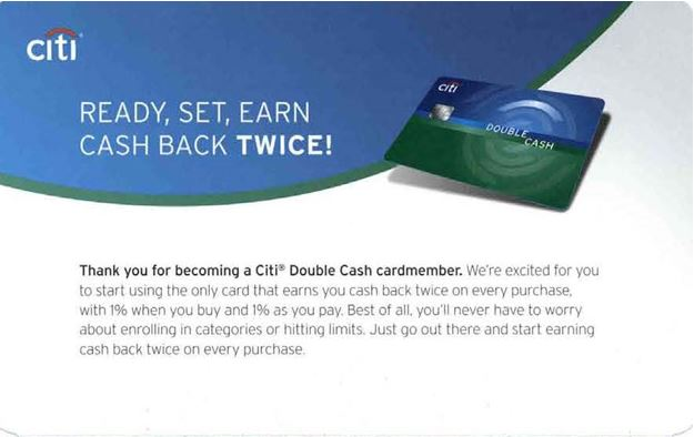 Citi Double Cash Back welcome kit reinforces credit card's value prop