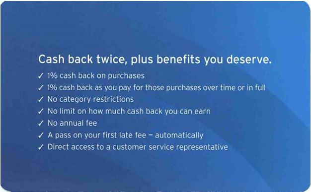 succinct summary of Citi Double Cash Back product benefits