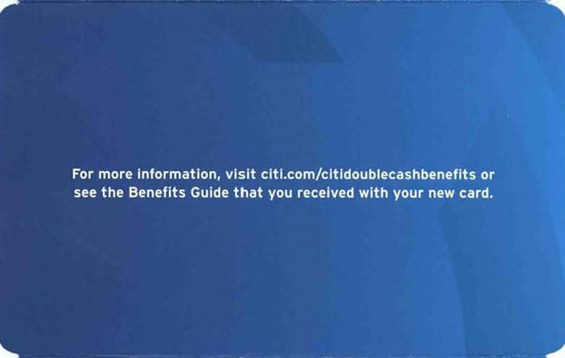 Citi Double Cash Back welcome kit repeats single call-to-action