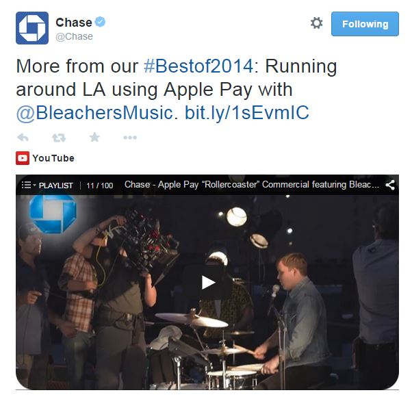 Content marketing trends - Chase uses social and mobile to market products and services