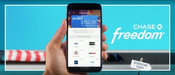 Chase Freedom allows point of sale credit card rewards redemption