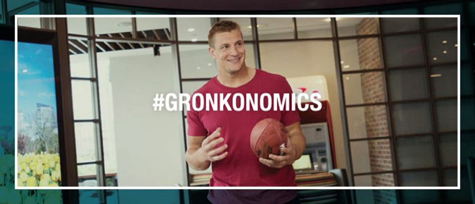 Rob Gronkowski as spokesperson for Capital One 360