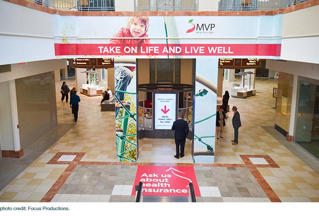 MVP Health Care kiosk at Colonie Center Mall
