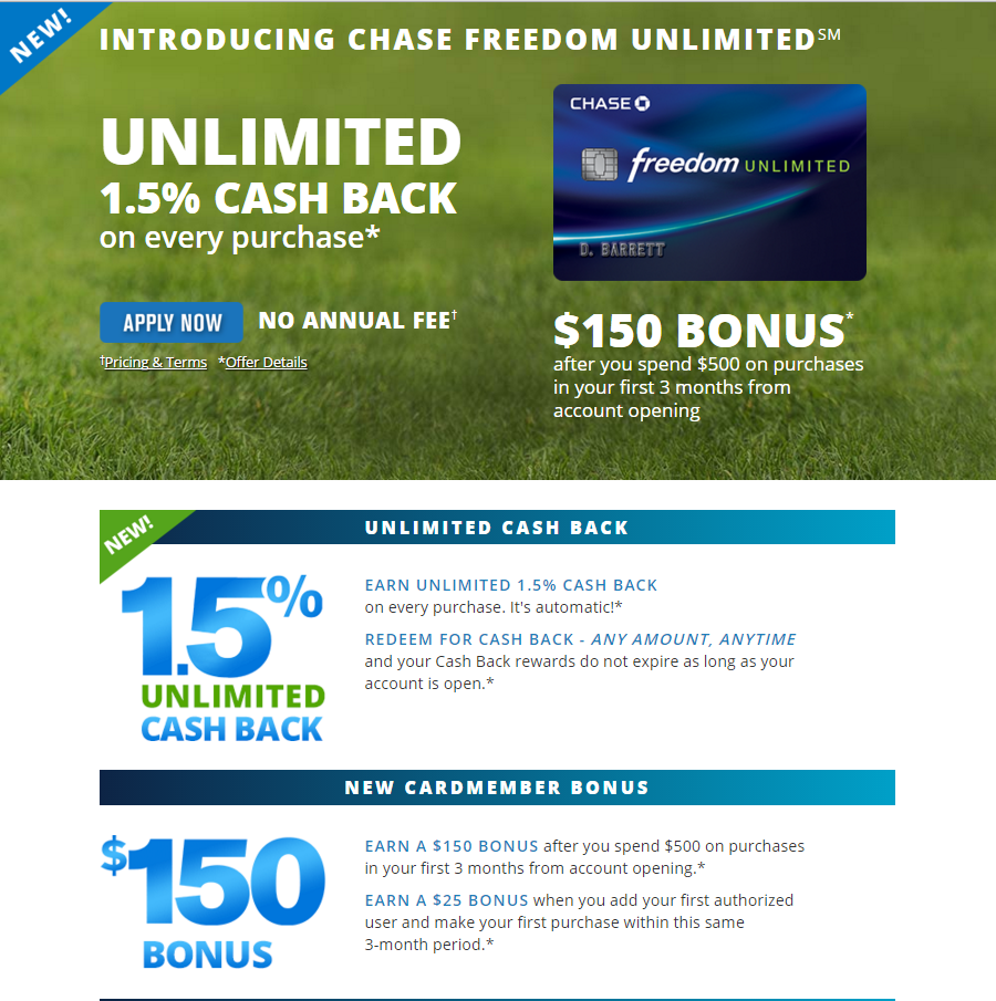 Chase Freedom Unlimited targets competitor's audience