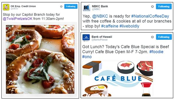 Events from NBKC Bank, OK Employees Credit Union and Bank of Hawaii