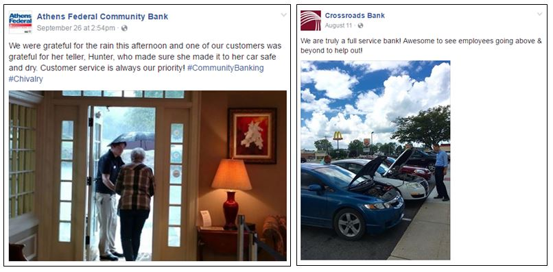 Acts of kindness from Athens Federal Community Bank and Crossroads Bank