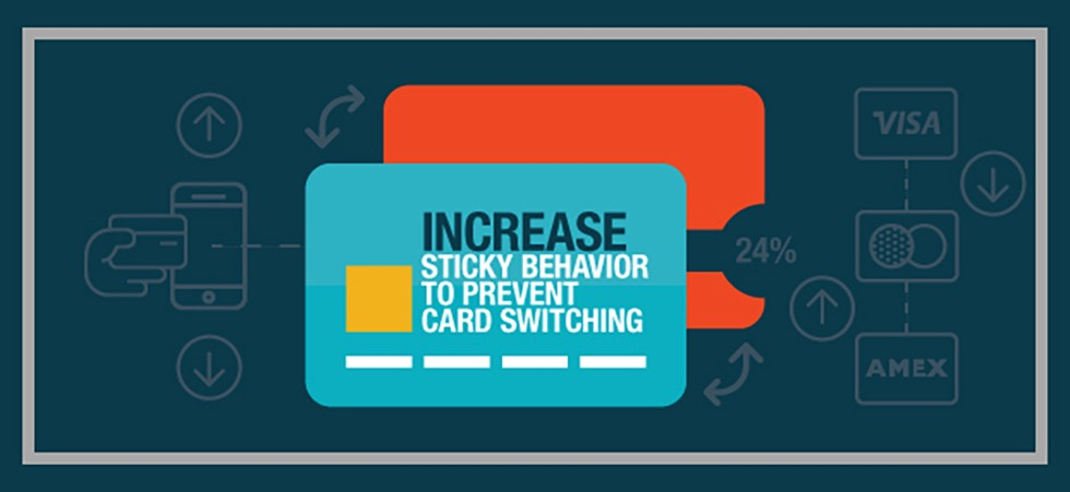marketing strategies for encouraging sticky behaviors for credit card customers