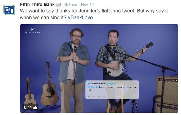 Fifth Third Bank duo sings customer feedback