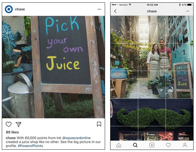 Chase's Big Picture engages Instagram users