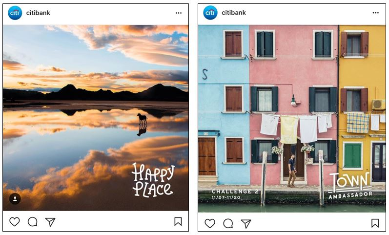 Citibank taps Instagram user enthusiasm for sharing travel experiences