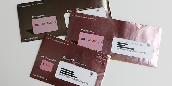 OE for direct mail from Discover it