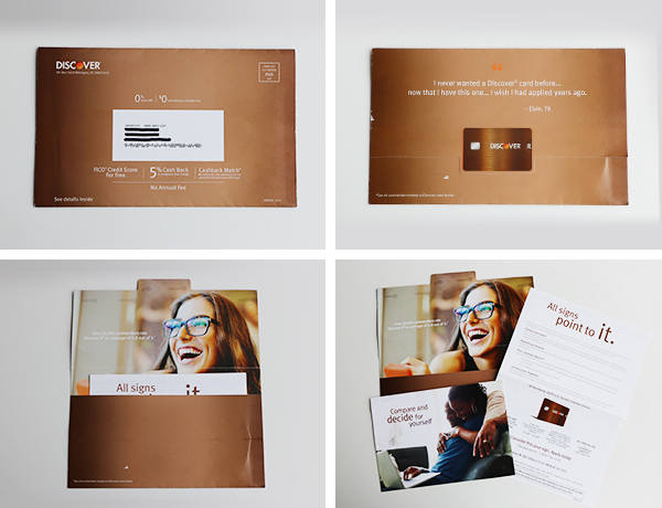 Discover it direct mail with testimonials and lifestyle photography
