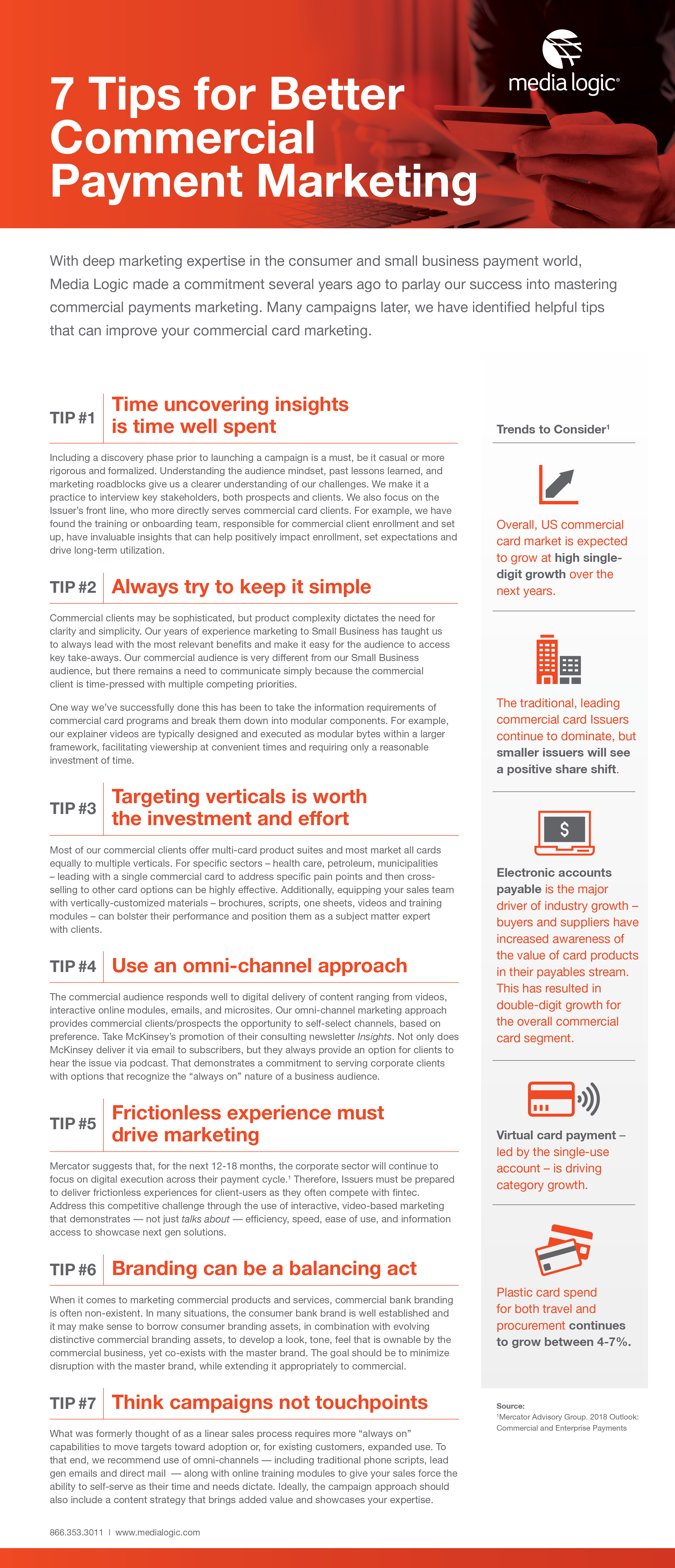 commercial payment marketing tip sheet