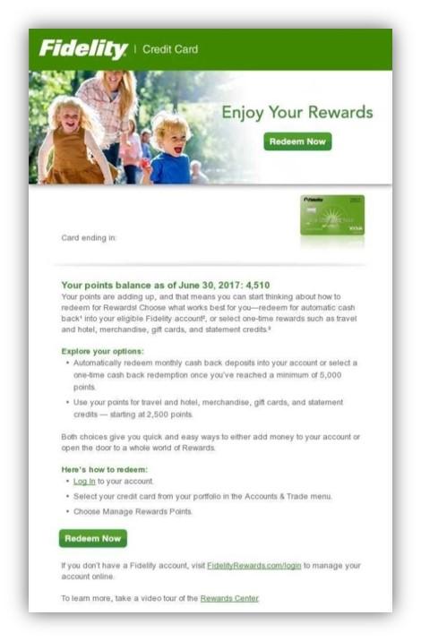 Video promotes Fidelity Rewards Center