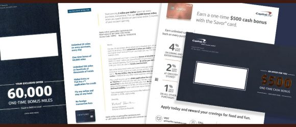 Capital One direct mail