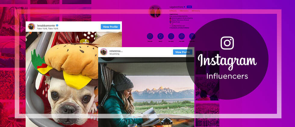 Examples of financial services influencer marketing on Instagram
