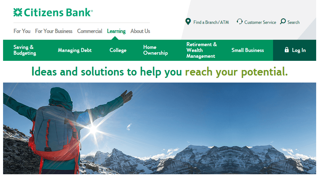 Citizens Bank customer financial education