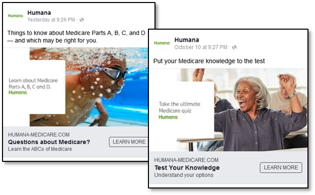 Medicare Marketing on Facebook - Humana