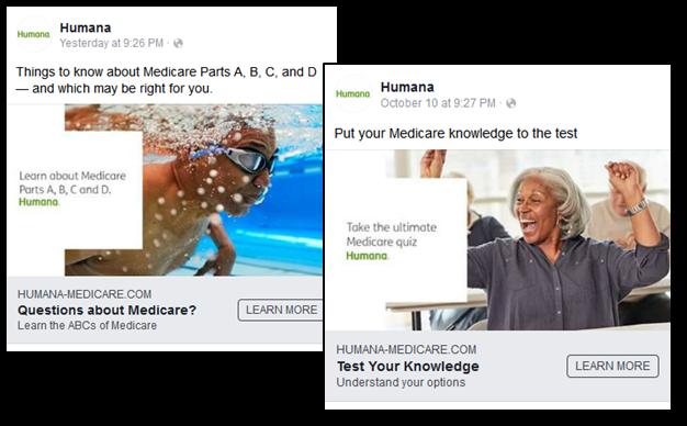Medicare Marketing on Facebook - Humana