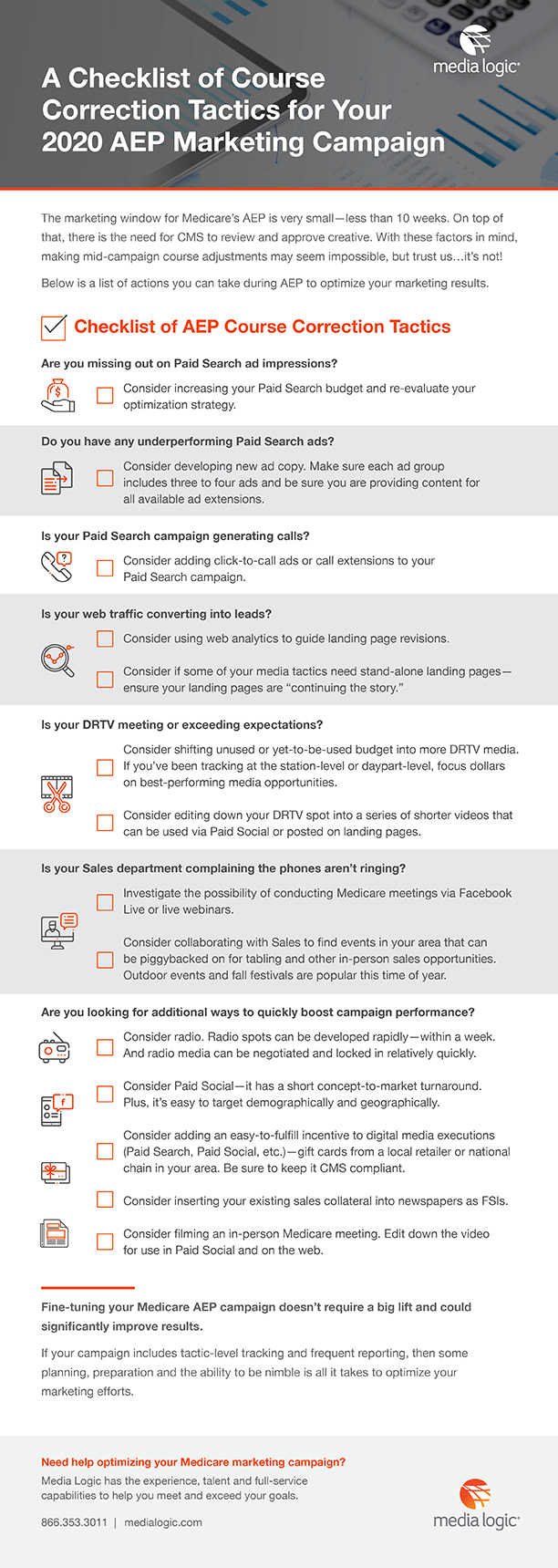 A Checklist of Course Correction Tactics for your 2020 AEP Marketing Campaign