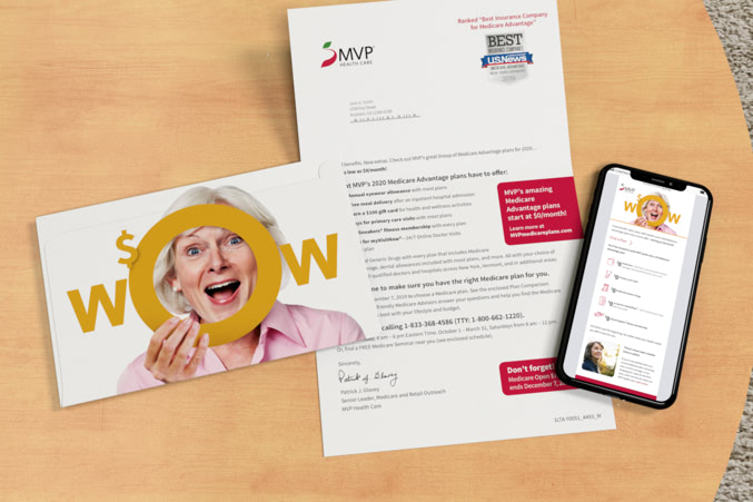 MVP letter with envelope and a MVP landing page shown on a mobile device