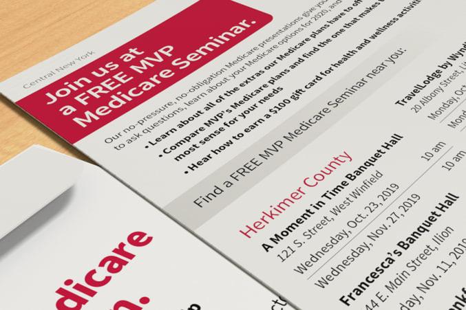Close up of an MVP brochure