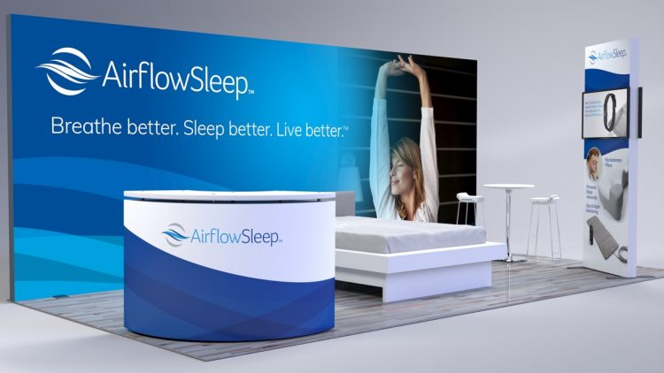 Airflow Sleep trade show booth