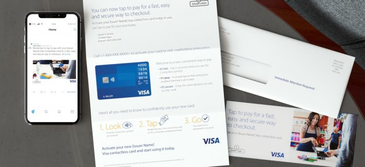 Visa Card Carrier letter with Insert and OE
