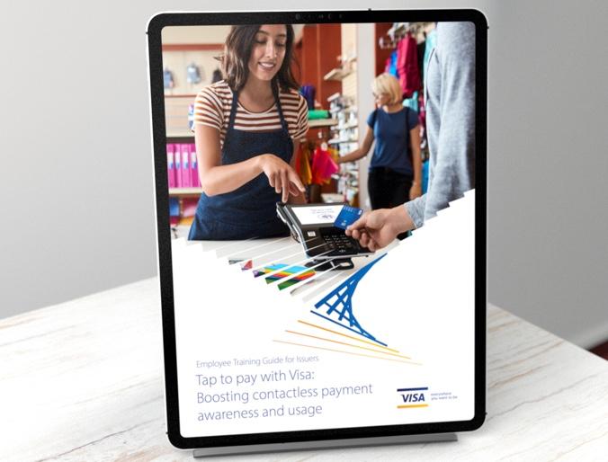 Employee Training Visa Guide displayed on an Ipad