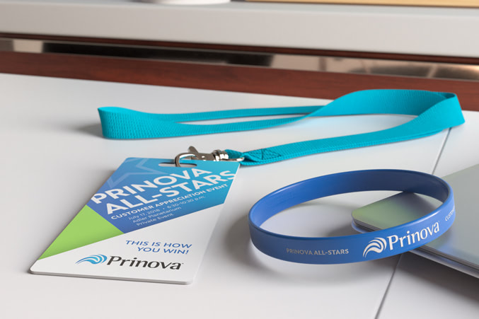 Tradeshow badge and wristband