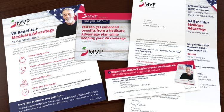 MVP Veterans letter package including one sheet, letter, and envelope
