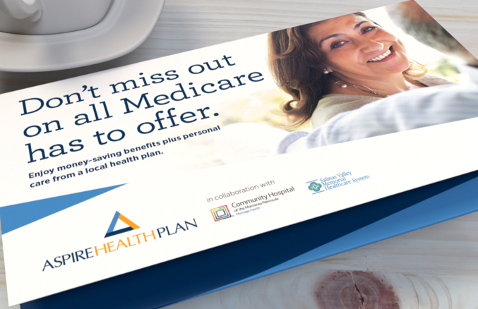 Close up of Aspire Health Plan self mailer