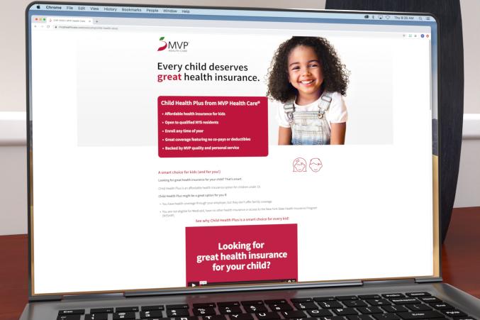 MVP Child Health Plus landing page