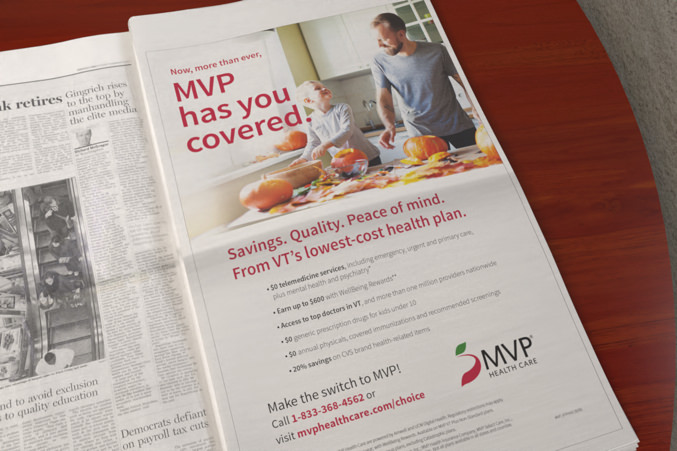 MVP print ad in newspaper