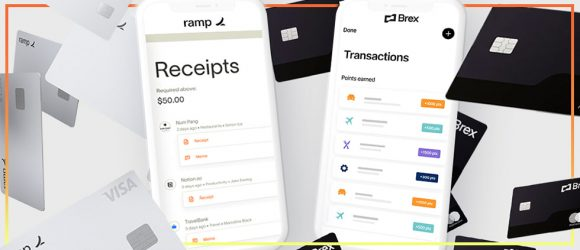 Brex and Ramp corporate payment card marketing
